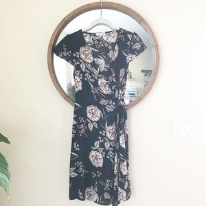 Floral Garden Wrap Dress